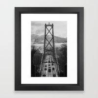 Lion's Gate Bridge  Framed Art Print