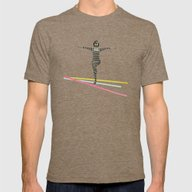 The Bold And The Bright Mens Fitted Tee Tri-Coffee SMALL