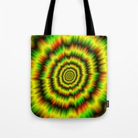 Colour Explosion in Yellow Green and Red Tote Bag