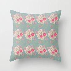 Flower pad Throw Pillow