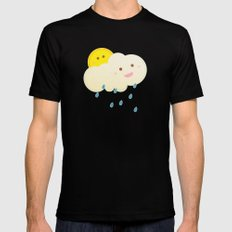 Raining day Black SMALL Mens Fitted Tee