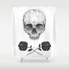 Skull N' Roses Shower Curtain