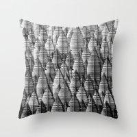 federwald (monochrome series) Throw Pillow
