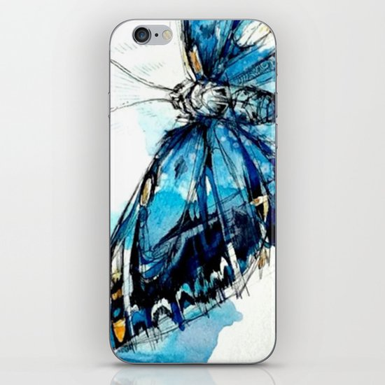 Mighty Morpho Butterfly iPhone & iPod Skin