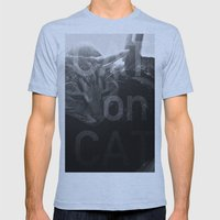 Cat On Cat Mens Fitted Tee Athletic Blue SMALL