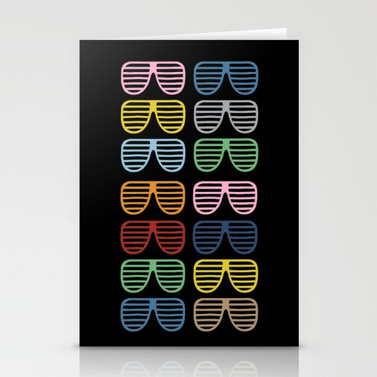 Rainbow Shutter Shades at Night Stationery Card