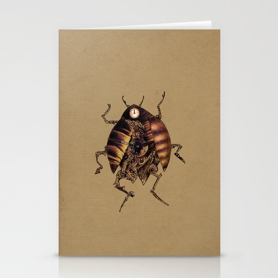 Clock Beetle Stationery Card