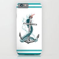 iPhone & iPod Case featuring Anchor and Tentacle (Riso edition) by pakowacz