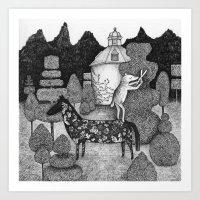 The Gardner Art Print