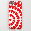 Patt2 RED HEARTS iPhone & iPod Case