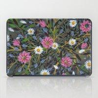 Teal Flowers iPad Case