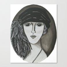 Bright Eyed Girl Canvas Print