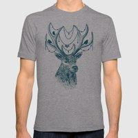 Deer Spirit Mens Fitted Tee Athletic Grey SMALL