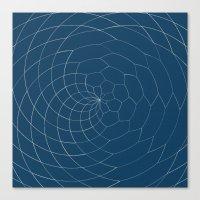 Honey Twist Blue Print Canvas Print