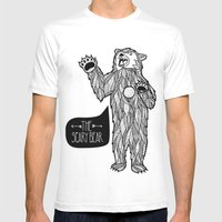 Scary Bear 2 Mens Fitted Tee White SMALL