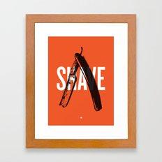Barbershop Design Ethos / Shave Framed Art Print