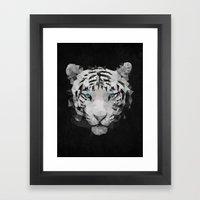 Meduzzle: White Tiger Framed Art Print