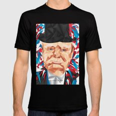 Portrait of Sir Winston Churchill Black Mens Fitted Tee SMALL