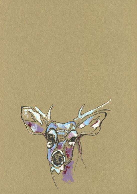 Awkward Deer Art Print