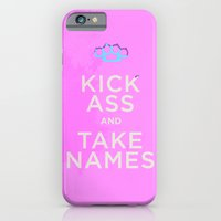 iPhone & iPod Case featuring Hey Ladies - Kick Ass + Take Names by Michael Ziegenhagen