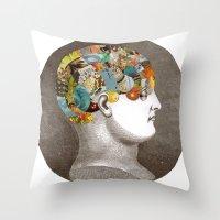 Phrenology Throw Pillow