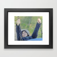 Happiness Is A Slow Swing Framed Art Print
