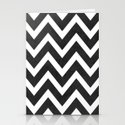 black chevron Stationery Cards