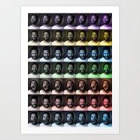 seven deadly faces Art Print