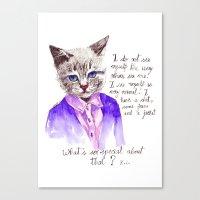 Fashion Mr. Cat Karl Lag… Canvas Print