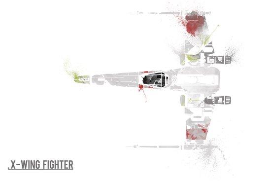 Star Wars Vehicle X-Wing Fighter Art Print