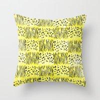 Powder Animal print Series (Yellow) Throw Pillow