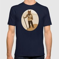 the explorer Mens Fitted Tee Navy SMALL