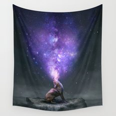 All Things Share the Same Breath (Coyote Galaxy) Wall Tapestry