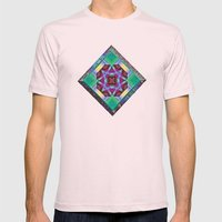 Lavender and Teal Mens Fitted Tee Light Pink SMALL
