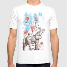 A Happy Place SMALL Mens Fitted Tee White