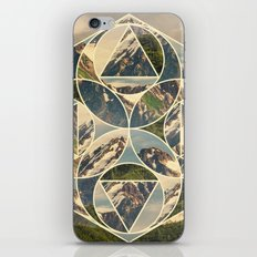 Geometric mountains 1 iPhone & iPod Skin
