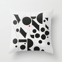B&W Typography Throw Pillow