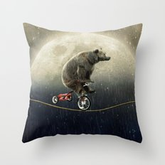balancing act (under the weather) Throw Pillow