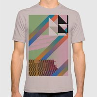 Clrfl Spill Mens Fitted Tee Cinder SMALL