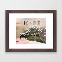 Mind the Deer! Framed Art Print