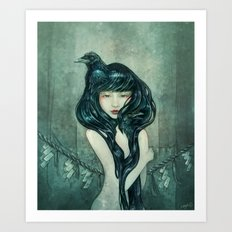 Oracle of the sodden raven Art Print