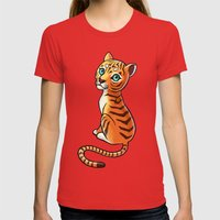 Tiger Cub Womens Fitted Tee Red SMALL