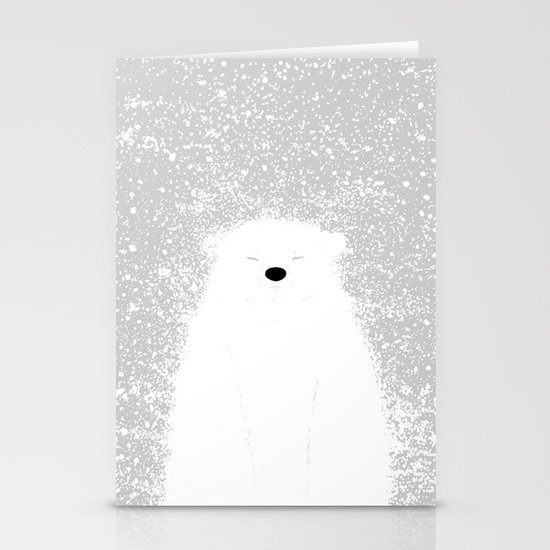 Its A Polar Bear Blinking In A Blizzard Stationery Card