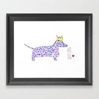 Hot Dog Framed Art Print