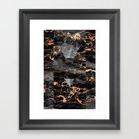 Molten Stone Framed Art Print