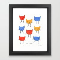 Cat Heads Framed Art Print