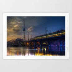 Berlin night and day Art Print