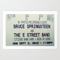 Bruce Springsteen & the E Street Band: Rain or Shine Art Print