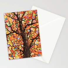 Stained Glass Tree #2 Stationery Cards