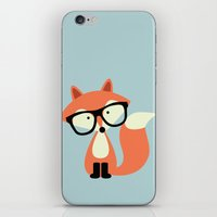Hipster Red Fox iPhone & iPod Skin